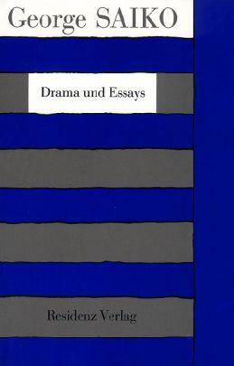 """Coverabbildung von """"Drama und Essays"""""""